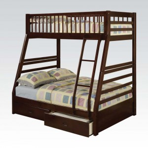 Twin/Full Bunk Bed with Drawers