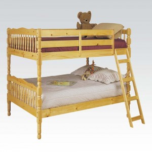 Twin/Twin Wooden Bunk Bed