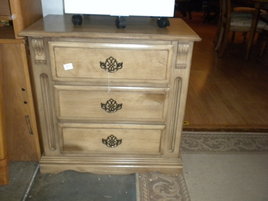 New Solid Wood Nightstand x2